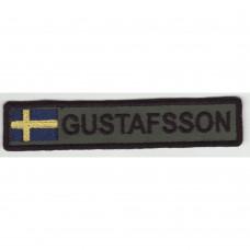 Namnband med svensk flagga - 5 olika namn